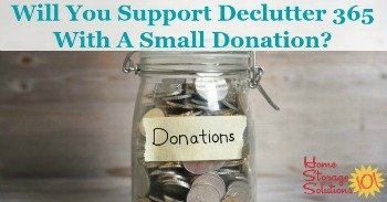How to support Declutter 365 with a small donation