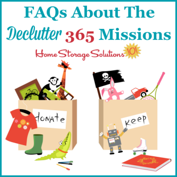 FAQs about the Declutter 365 missions