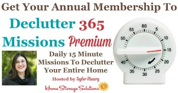 Get your annual membership to Declutter 365 premium
