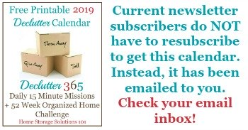 Free 2019 Printable Declutter Calendar 15 Minute Daily Missions