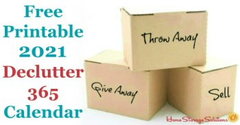 Month by month guide to declutter your home, incuding free printables for each month {on Home Storage Solutions 101}