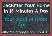 April decluttering missions