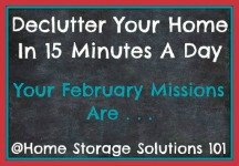 February decluttering missions