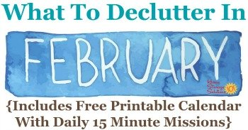 What to declutter in February
