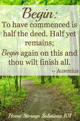 Sometimes the toughest step is to begin, but it is also the most important!