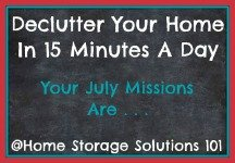 July decluttering missions