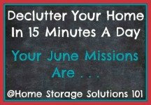 June decluttering missions