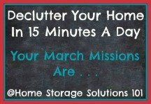 March decluttering missions