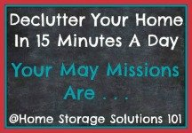 May decluttering missions