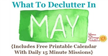 What to declutter in May
