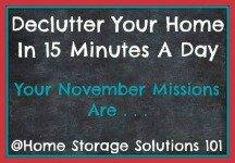 November decluttering missions
