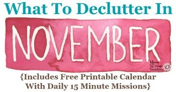 What to declutter in November