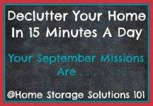 September decluttering missions