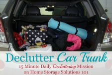 Declutter Car Trunk