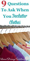 9 questions to ask when you declutter clothes