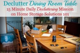 declutter dining room table mission
