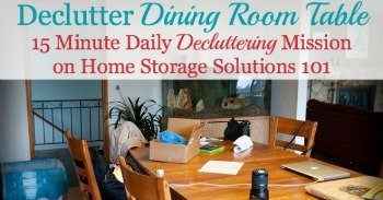 How to declutter dining room table