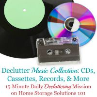 declutter music collection mission