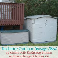 How to declutter your outdoor storage shed