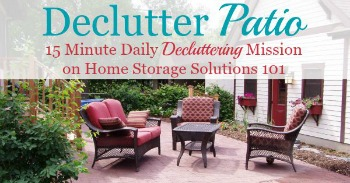 How to declutter your patio
