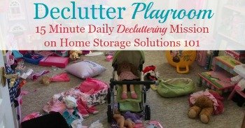 How to declutter playroom