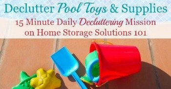 How to declutter pool toys and supplies