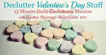 How to declutter Valentine's Day stuff