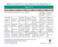 March declutter calendar