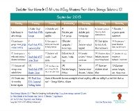 September declutter calendar