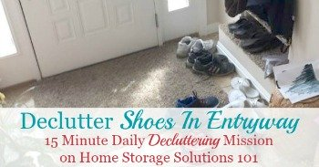 How to declutter shoes in your entryway