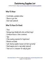decluttering supplies list