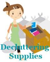 gather decluttering supplies