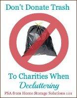 don't donate trash