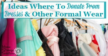 Ideas for where to donate prom dresses and other formal wear