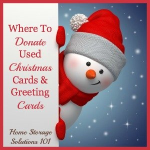 where to donate used Christmas cards and greeting cards
