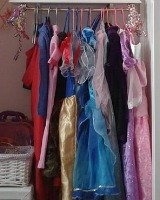 kids' dress up clothes storage