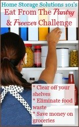 Eat from the pantry and freezer challenge