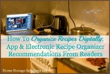 electronic recipe organizer options recommended by readers