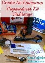 Create an emergency preparedness kit challenge