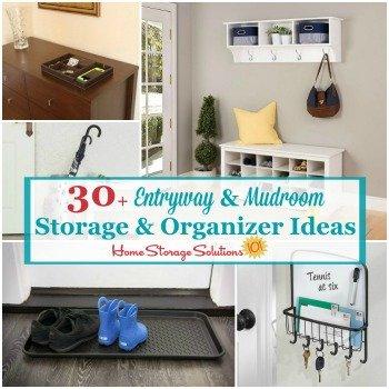 30+ entryway and mudroom storage and organizer ideas