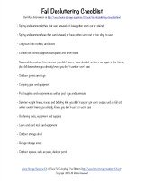 fall decluttering checklist