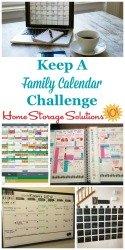 Keep A Family Calendar