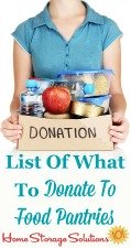 List of what to donate to food pantries