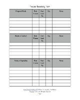 printable freezer inventory form