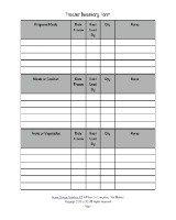 freezer inventory form