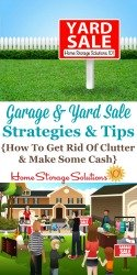 Garage and yard sale strategies and tips