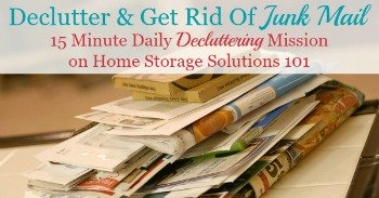 How to declutter and get rid of junk mail