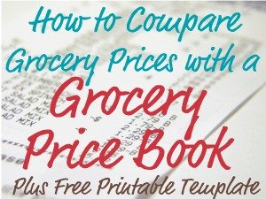 How to compare grocery prices with a grocery price book to help you save money on food and other household items using sales cycles, whether you use coupons or not, plus includes a free printable template form {on Home Storage Solutions 101}