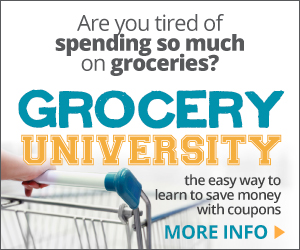 Grocery University review, for 2+ hour audio couponing course, to save money on your groceries {on Home Storage Solutions 101}