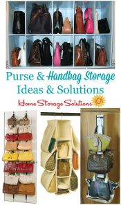 purse and handbag storage ideas and solutions
